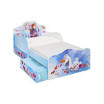 Disney Frozen 2 Toddler Bed with Storage Plus Deluxe Foam Mattress
