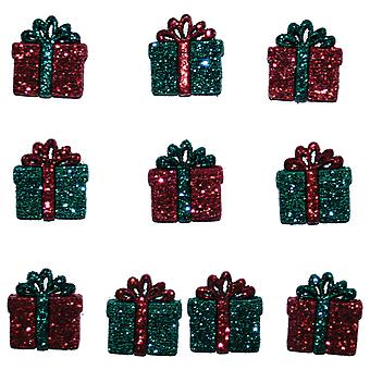 Dress It Up Holiday Embellishments Small Glitter Presents Diuhlday 4978