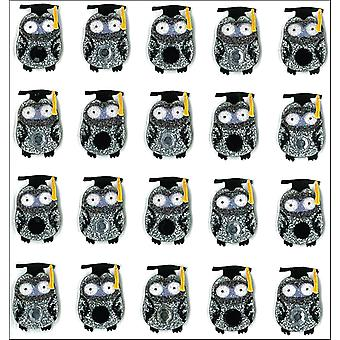 Jolee's Mini Repeats Stickers Graduation Owl E20766