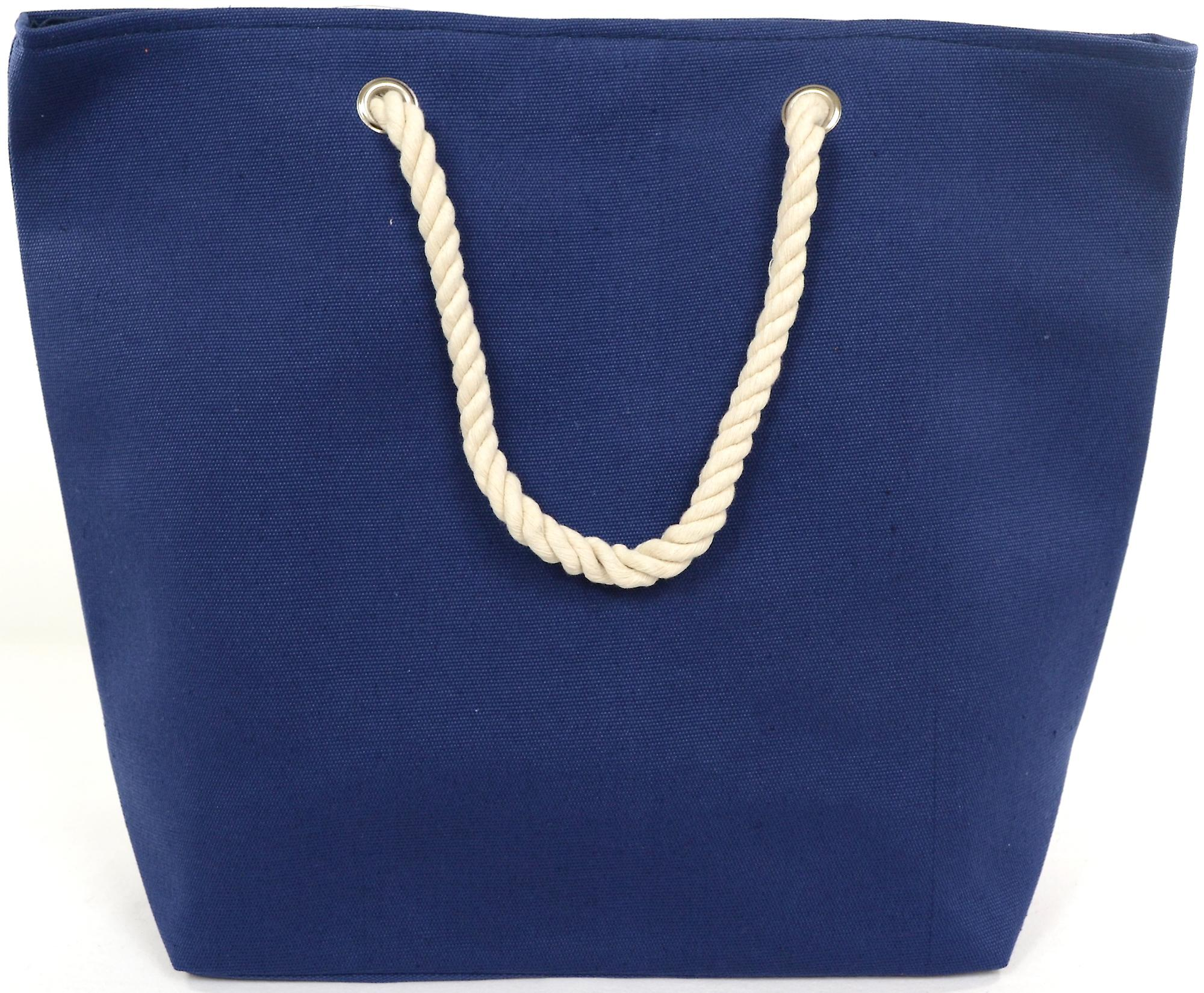Ladies / Womens Large Navy Canvas Beach / Holiday / Summer / Tote Bag  -  Lifebouy