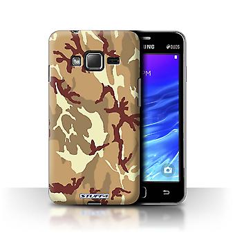 STUFF4 Case/Cover for Samsung Z1/Z130/Brown 4/Camouflage Army Navy