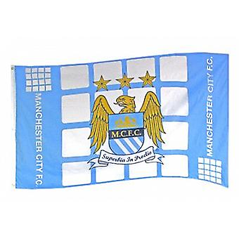 Manchester City FC large licensed nylon flag 1500mm x 900mm   (bb)
