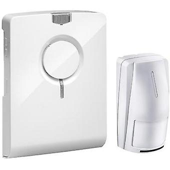 Wireless door chime Complete set recordable, with motion detector Grothe 43516