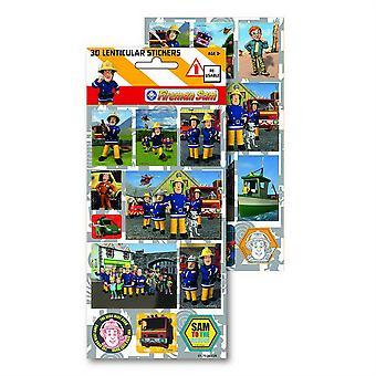 FIREMAN SAM - 3D & Lenticular Stickers - Reusable Sticker Style