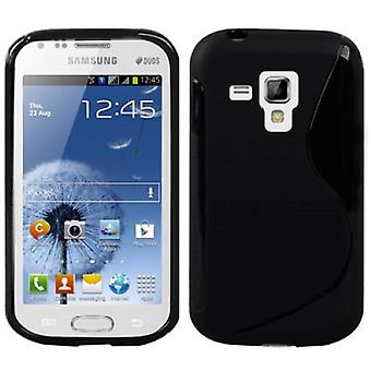Mobile case TPU case for Samsung Galaxy Galaxy trend duos S7562 S7580 S7582 black