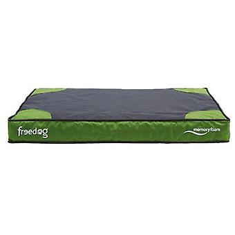 Freedog Memory Foam Flat Bed Green For Pets (Honden , Comfort , Matrassen en kussens)