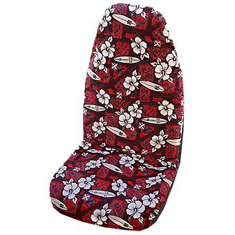 Side Airbag Optional; Hibiscus Surf Hawaiian Car Seat Covers