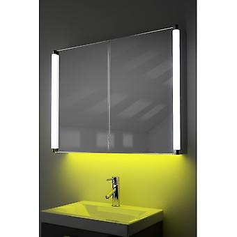 Demist Cabinet With LED Under Lighting, Sensor & Internal Shaver k318