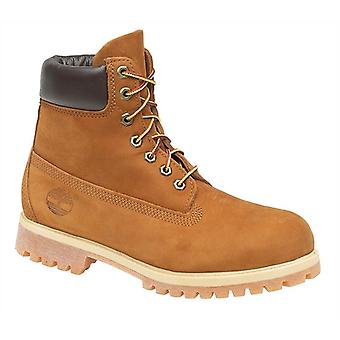 Timberland 72066 Mens Leather Lace Up Boots Rust Nubuck Textile Rubber Footwear