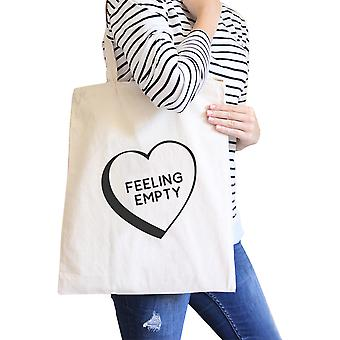 Feeling Empty Canvas Eco Bag Unique Graphic Cute School Bag