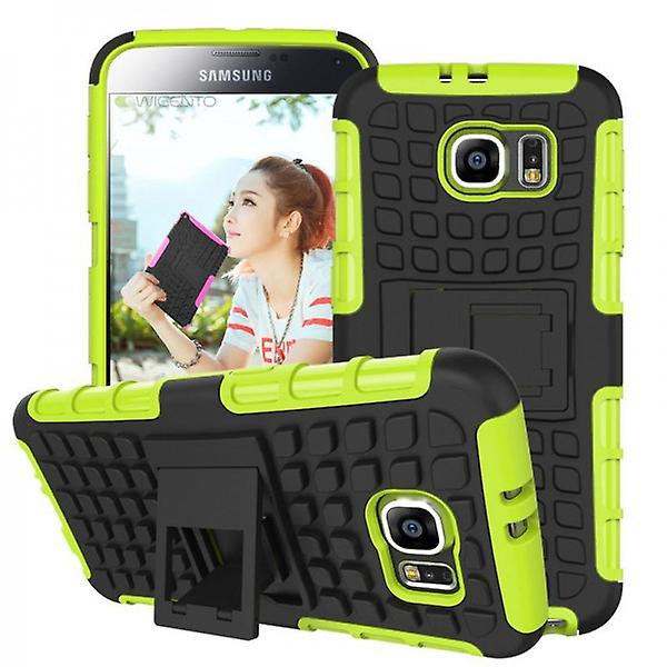 Hybrid case 2 piece SWL robot green for Samsung Galaxy S6 G920 G920F
