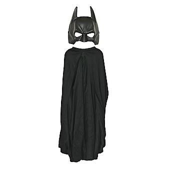 Batman The Dark Knight DC Comics Superhero Child Boys Costume Cape Mask Set