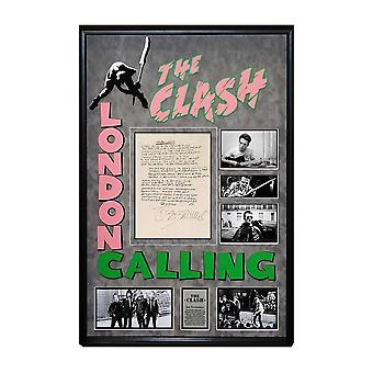 I Clash London chiamando Handwritten testi di fine Joe Strummer - COA