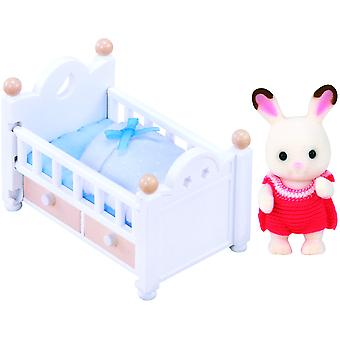 Sylvanian families chocolate rabbit baby set