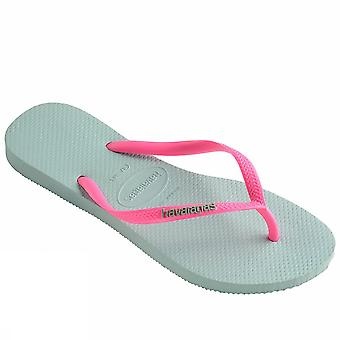 Havaianas slim logo 4119787 2075Menthagre ladies sea shoes