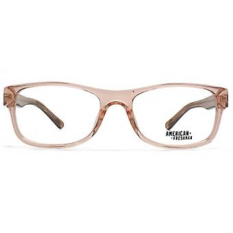 American Freshman Jenna Soft Square Glasses In Crystal Pink