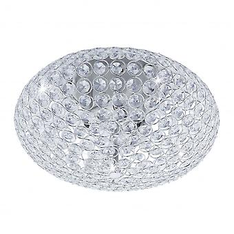 Eglo CLEMENTE Crystal Oval Ceiling Light