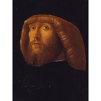Giovanni Bellini - A Bearded Man Poster Print Giclee