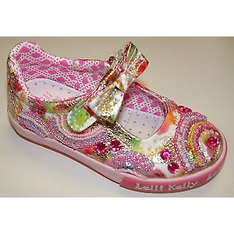 Lelli Kelly Rainbow LK9192 guld Multi lærred sko