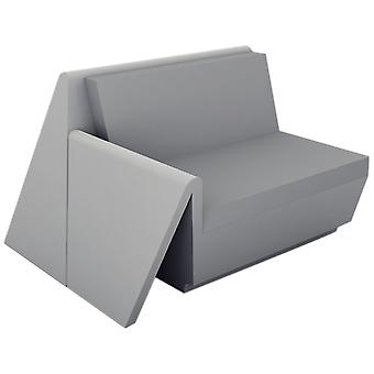 Vondom Rest couch right module lacquered steel Anthracite 53003F