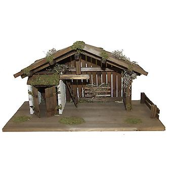 Crib Nativity scene wood Nativity stable EPHRAIM hand work for characters up to 13 cm
