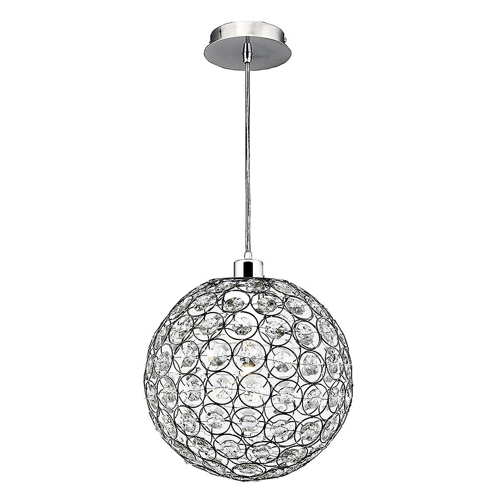 Searchlight 4145CL Bellis II Chrome/Acrylic 1 Light Ceiling Pendant