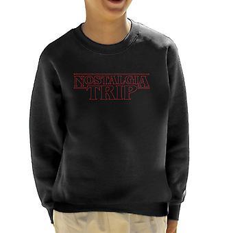 Stranger Things Nostalgia Trip Kid's Sweatshirt