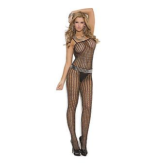 Elegant Moments EM-1614 Crochet Bodystocking with open crotch also in plus size