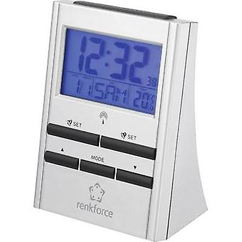 Radio Alarm clock Renkforce 51143 Silver Alarm tim