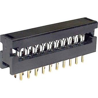 Edge connector (receptacle) LPV25S6 Total number of pins 6 No. of rows 2