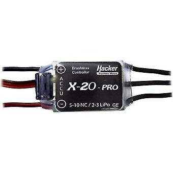 Model aircraft brushless motor controller Hacker X-20-Pro BEC