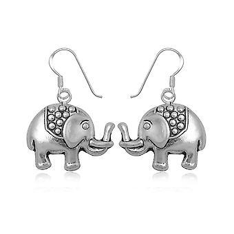 Elephant Pendantes in Silver 925 earrings
