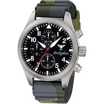 KHS mens watch Airleader Steel Chronograph KHS. AIRSC. DC3