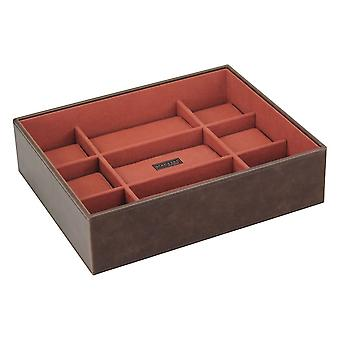 Brown/Orange Watch Open 15 Piece Watch Tray
