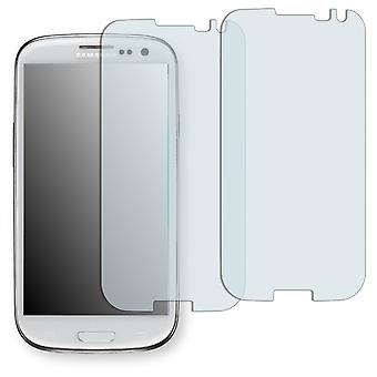 Samsung Galaxy S3 display protector - Golebo crystal-clear protector (deliberately smaller than the display, as this is arched)