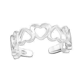 Heart - 925 Sterling Silver Toe Rings - W34956X