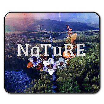 Natur stil sklisikre musen Mat Pad 24 cm x 20 cm   Wellcoda