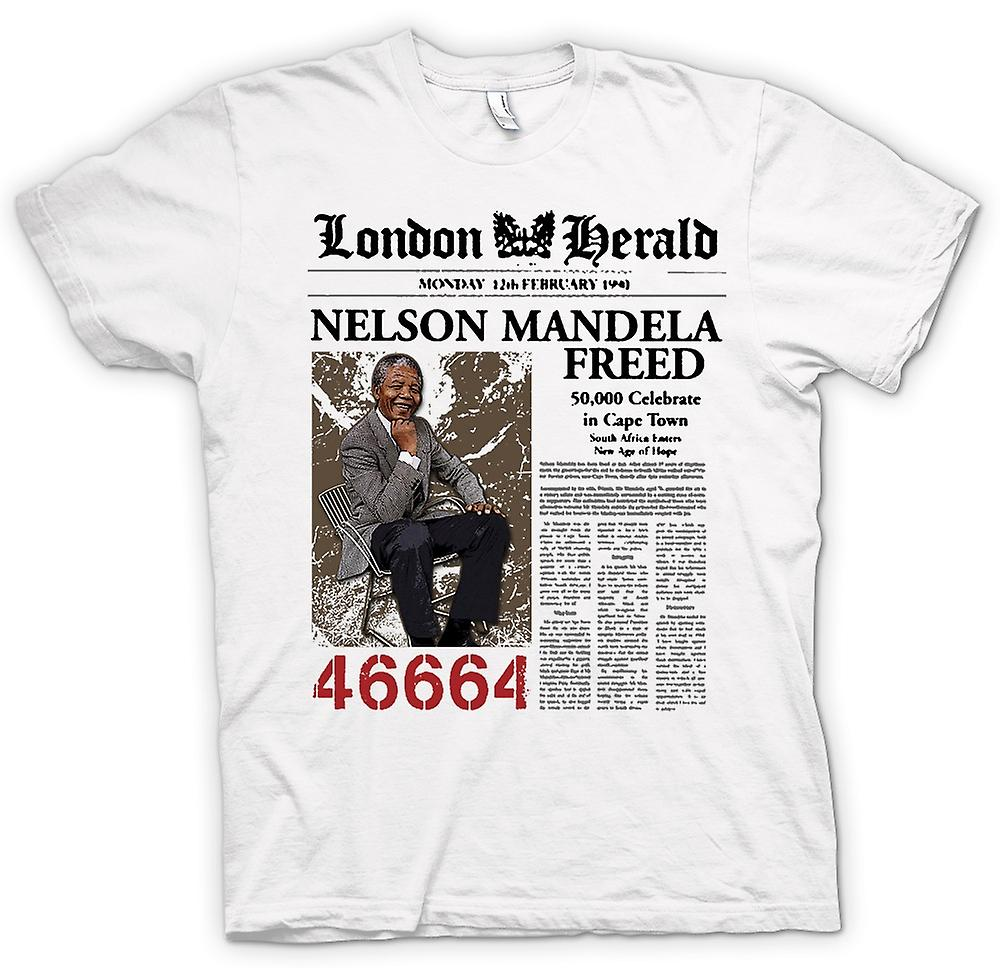 Womens T-shirt - Nelson Mandela Freed 46664 - ANC - Freedom