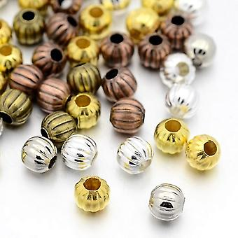 Packet 40+ Mixed Plated Iron 5mm Plated Round Spacer Beads HA15060