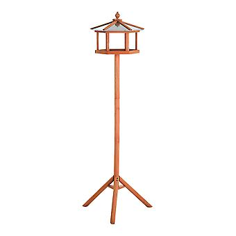 PawHut Portable Wooden Bird Feeder Station with Stand for Garden, Patio or Balcony