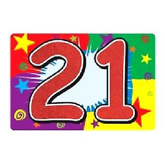 21 señal de lentejuelas
