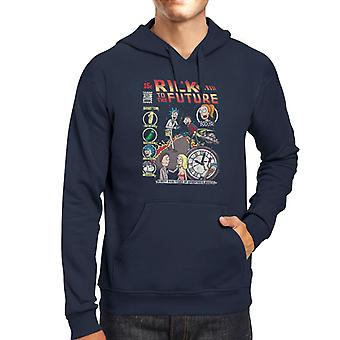 Rick And Morty Back To The Future Mix Men's Hooded Sweatshirt