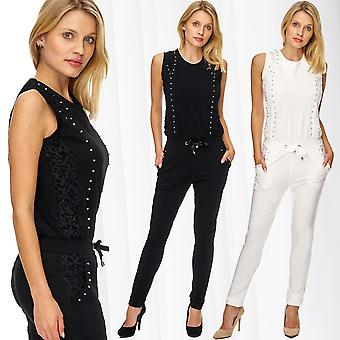 Ladies jumpsuit jumpsuit brilliant rhinestones top blogger summer festival