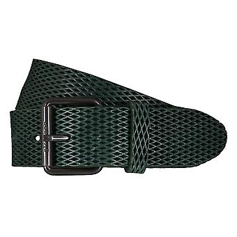 Strellson belts men's belts leather belt green 5921