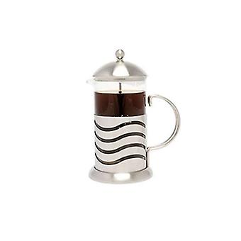 La Cafetiere Wave - Cafetiere kaffebryggare - glas & rostfritt stål - 8 cup 1l