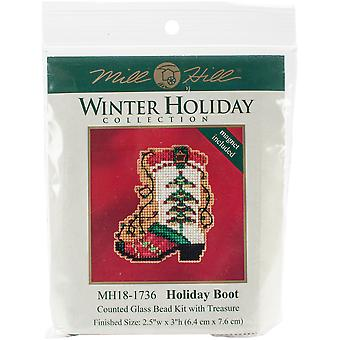 Holiday Boot Counted Cross Stitch Kit-2.5