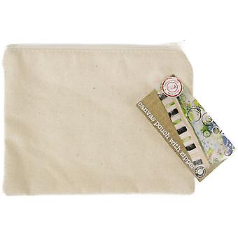 Canvas Zippered Pouch 5.5