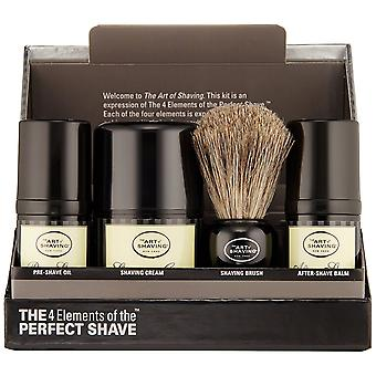The Art of Shaving The Mid-Size Kit Unscented Essential Oil 4pc Set