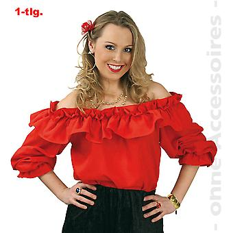 Carmen blouse of off shoulder blouse Spanish flamenco Cowgirl Womens costume