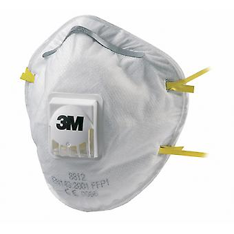 3M 8812 3M Cup-Shaped Valved Dust/Mist Respirator Ffp1 10 Pack